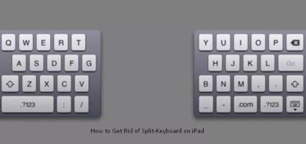 How To Get Rid Of Split Keyboard On IPad