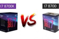Intel Core i7 8700 vs Core i7 8700k