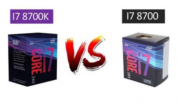 Intel Core i7 8700 vs Core i7 8700k