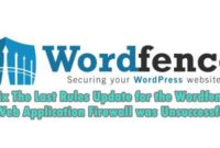 fix wordfence firewall