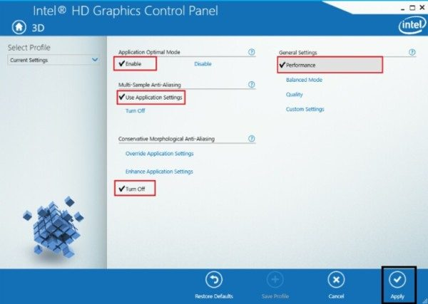 Get the maximum performance out of your Intel HD Graphics